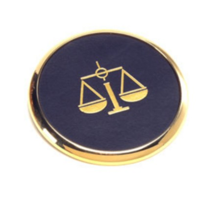 Gold Rim Circle Coaster