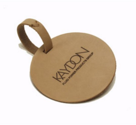 Natural Circle Bag Tag