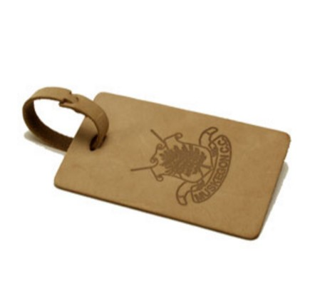 Leather Natural Rectangle Bag Tag
