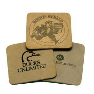 Natural Square Coasters