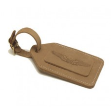 Natural Leather Bullet Nose Security Bag Tag