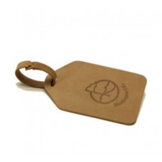 Leather Natural Bullet Nose Bag Tag