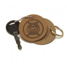 Natural Circle Keychain