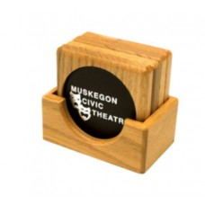 Square Wood Coaster Set