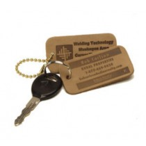 Natural Rectangle Keychain